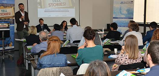 Un seminario di successo per raccontare l'arte dello storytelling